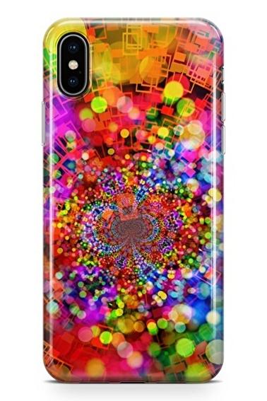 Lopard iPhone Xs Max Kılıf Silikon Arka Kapak Koruyucu Bokeh Efekti Desenli Full HD Baskılı Renkli